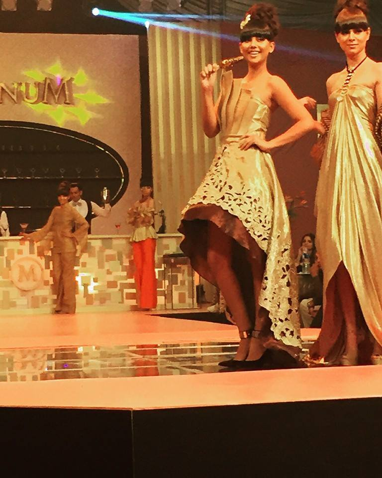 Beautiful shades of golden and brown takeover the ramp in a stunning collection by Maheen Karim