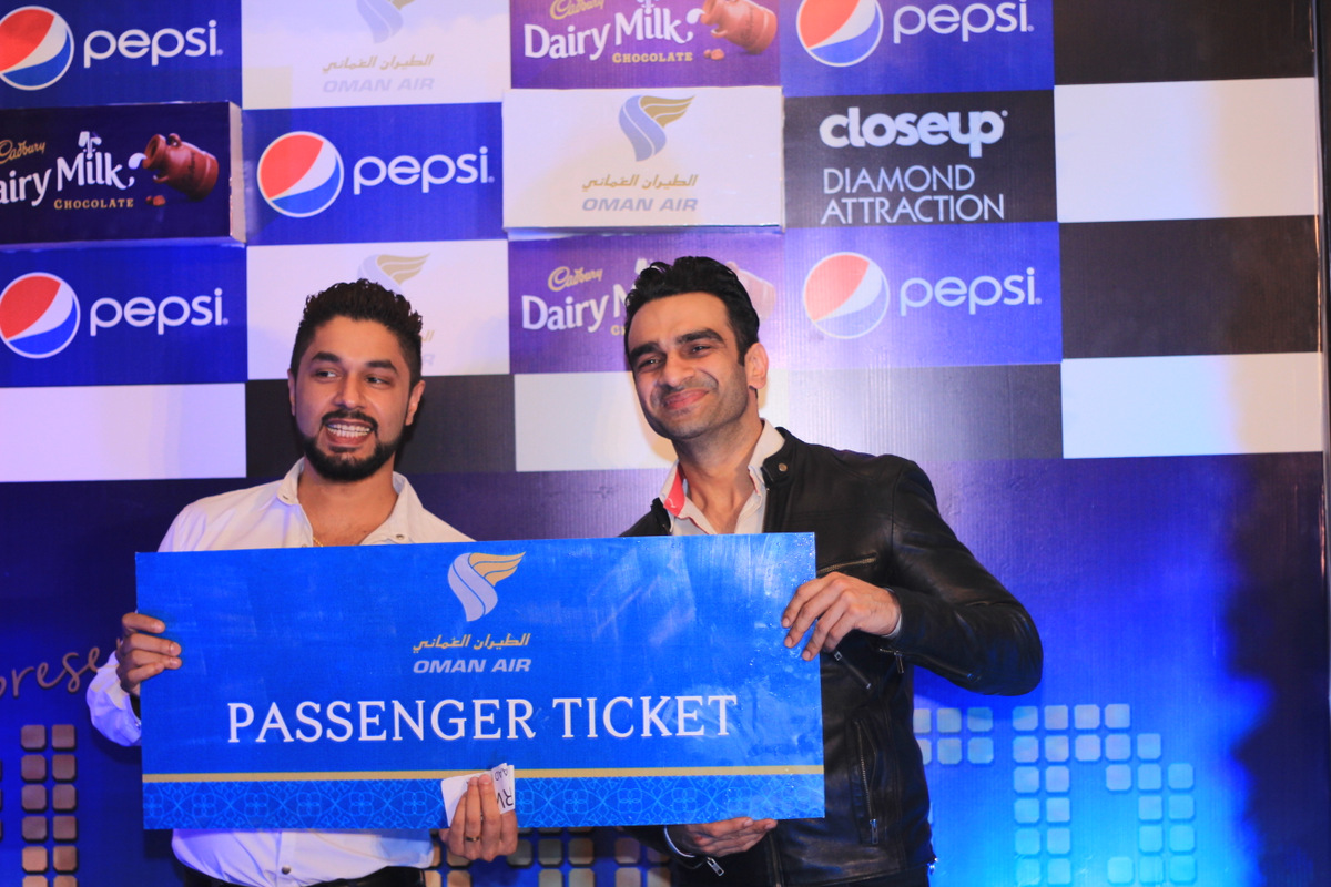 Munib Nawaz winning Ticket - Courtesy Oman Air