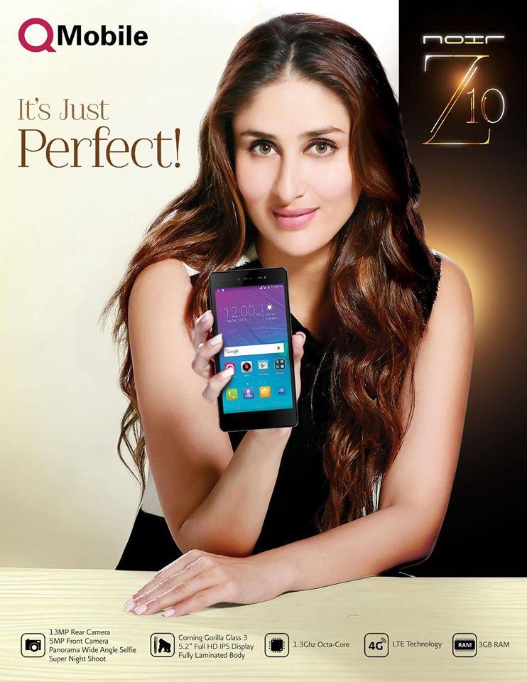 Kareena Kapoor in Q Mobile Noir Z10 Tv Commercial 2016