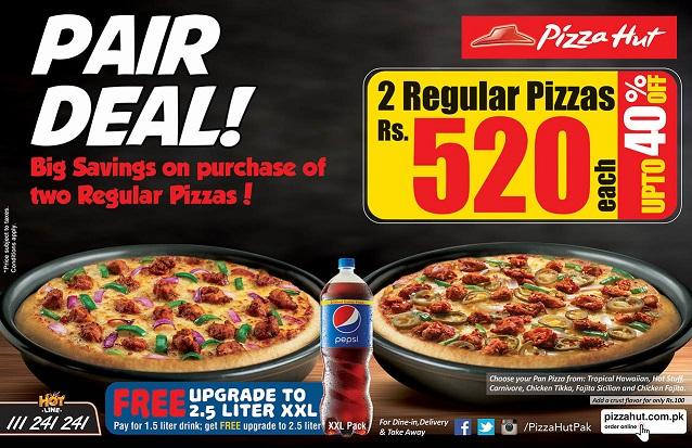 pizza hut pizza deals pakistan